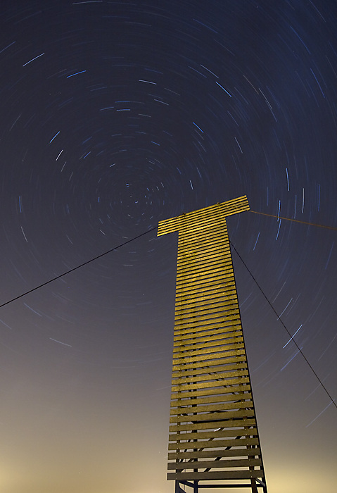Dungeness star trails